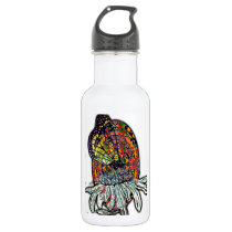 Monarch and Patterns Water Bottle