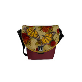 MONARCH AND ROSES MESSENGER BAGS