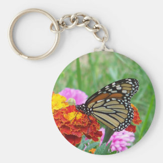 Monarch and the Marigolds Keychain