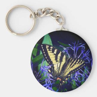 Monarch Basic Round Button Keychain