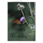 Monarch Birthday Card