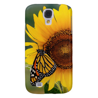 Monarch Butterfies on Sunflower Samsung Galaxy S4 Cover