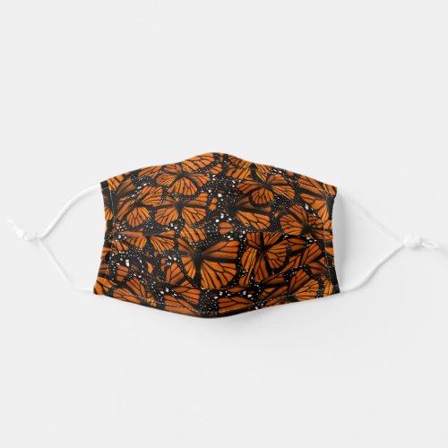 Monarch Butterflies Cheer Adult Cloth Face Mask
