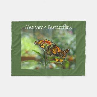 Monarch Butterflies Designer Fleece blankets
