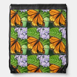 Monarch Butterflies Drawstring Backpack