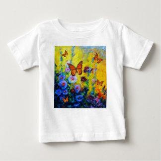 MONARCH BUTTERFLIES HOLLYHOCK GARDEN BABY T-Shirt