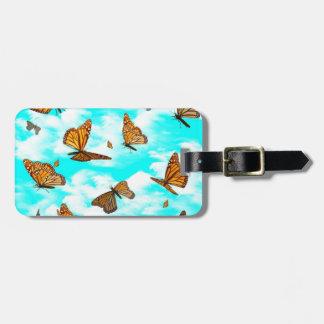 Monarch Butterflies in Flight Bag Tags