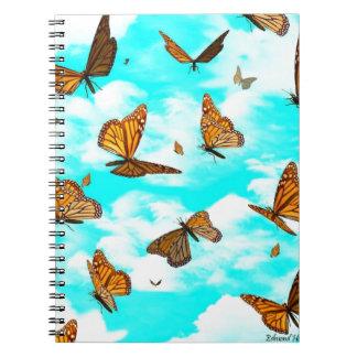 Monarch Butterflies in Flight Notebook