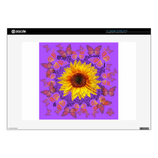 Monarch Butterflies Love Sunflowers by Sharles Laptop Decals