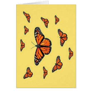 Monarch Butterflies Migration by Sharles Greeting Card