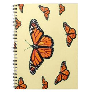 Monarch Butterflies Migration by Sharles Spiral Notebook