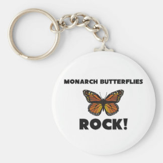 Monarch Butterflies Rock Key Chain