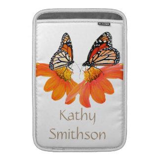 Monarch Butterflies Sunflowers Floral Flowers MacBook Sleeve