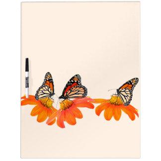 Monarch Butterflies Sunflowers Flower Floral Dry-Erase Board