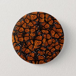 Monarch Butterflies Swarming Button