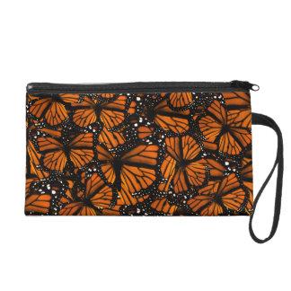 Monarch Butterflies Swarming Wristlet Purse