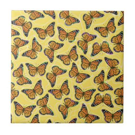 MONARCH BUTTERFLIES Tile