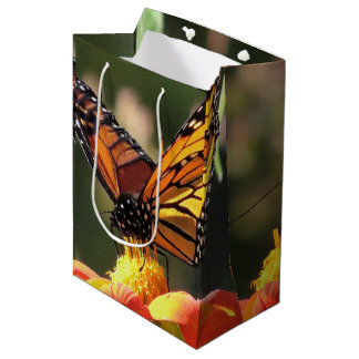 Monarch Butterflies Wildlife Flowers Floral Medium Gift Bag