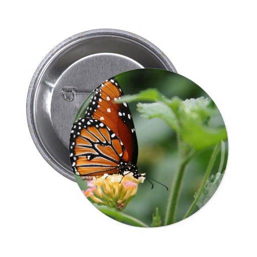 Monarch Butterfly 2 Inch Round Button