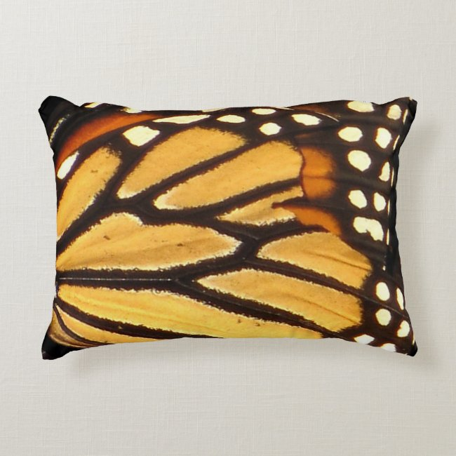 Monarch Butterfly Abstract Accent Pillow