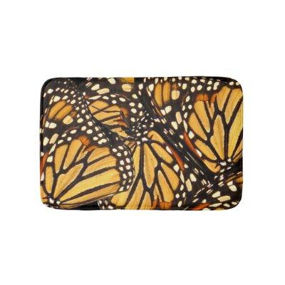 Monarch Butterfly Abstract Bath Mats