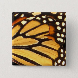 Monarch Butterfly Abstract Button