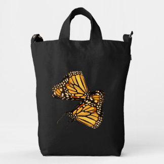 Monarch Butterfly Abstract Duck Canvas Bag