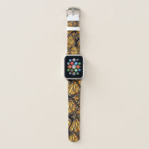 Monarch Butterfly Abstract Pattern Apple Watch Band