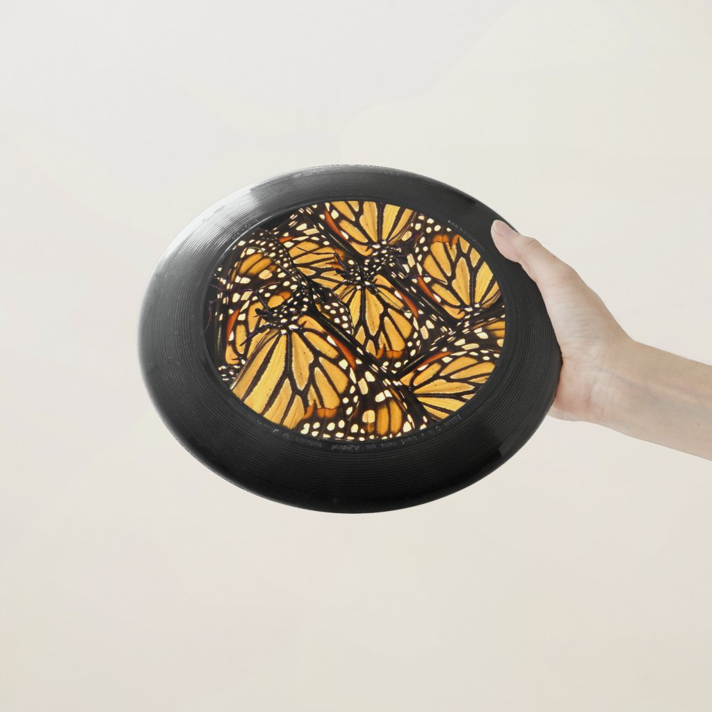 Monarch Butterfly Abstract Pattern Frisbee