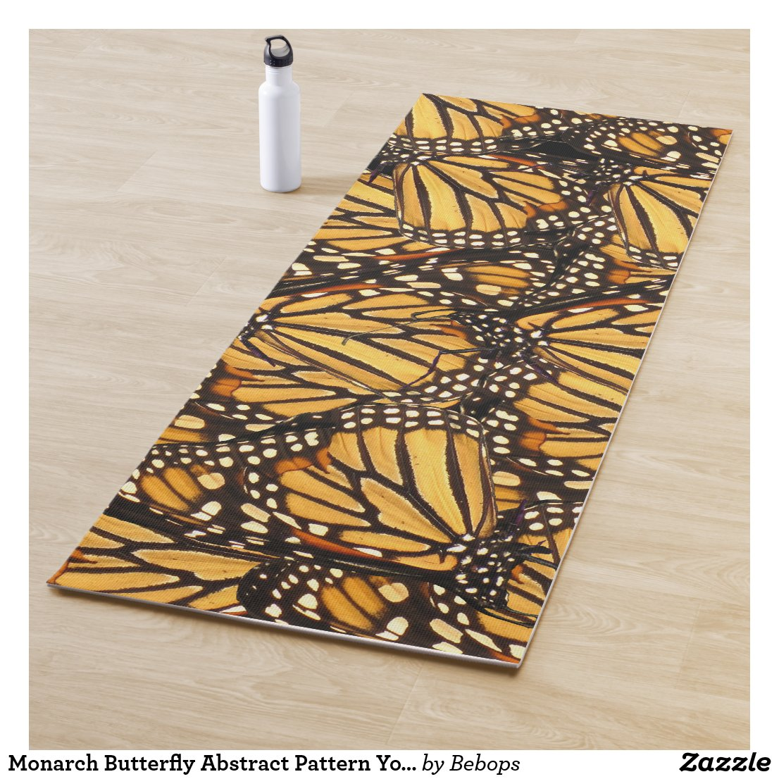 Monarch Butterfly Abstract Pattern Yoga Mat