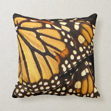 Monarch Butterfly Abstract Pillows