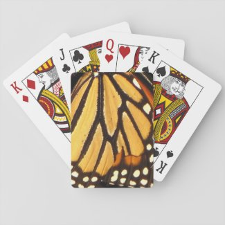 Monarch Butterfly Abstract Playing Cards