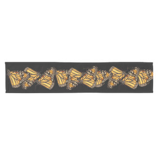 Monarch Butterfly Abstract Short Table Runner