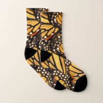 Monarch Butterfly Abstract Socks