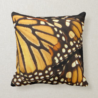 Monarch Butterfly Abstract Throw Pillow