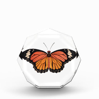 Monarch Butterfly Acrylic Octagon Award