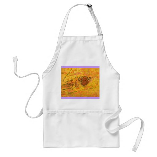 monarch butterfly and bicycle aprons