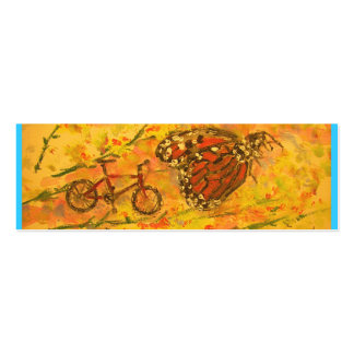 monarch butterfly and bicycle art Double-Sided mini business cards (Pack of 20)