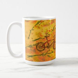 monarch butterfly and bicycle classic white coffee mug