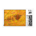 monarch butterfly and bicycle stamp