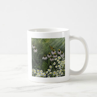 Monarch butterfly and flower coffee mug