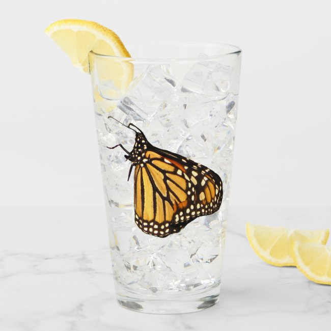 Monarch Butterfly Animal Nature Glass Tumbler