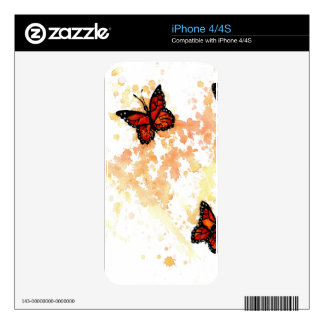 Monarch Butterfly Art Decal For The iPhone 4