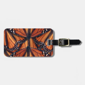 monarch butterfly art luggage tag