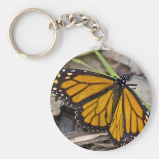 Monarch Butterfly Basic Round Button Keychain