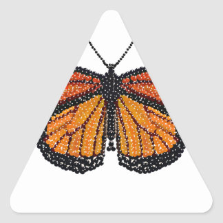 Monarch Butterfly Bedazzled Triangle Sticker