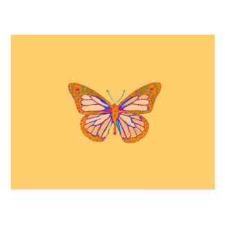 Monarch Butterfly Beige Pastel Gifts by Sharles Postcard