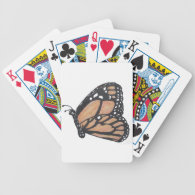Monarch Butterfly Bicycle Card Decks