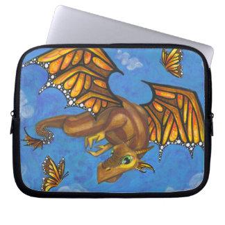 Monarch Butterfly big eye Dragon fantasy art case Laptop Sleeve