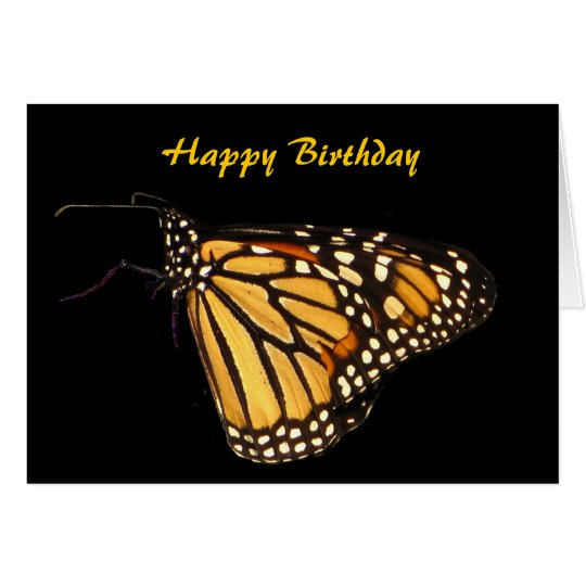 Monarch Butterfly Birthday Card – Butterfly Birthday Card